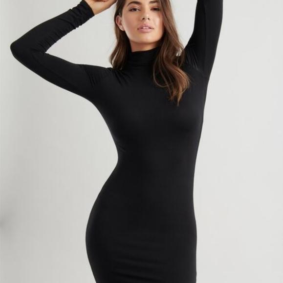 Fwp Black turtleneck bodycon mini dress